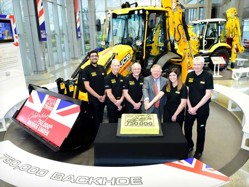 750,000th JCB backhoe loader