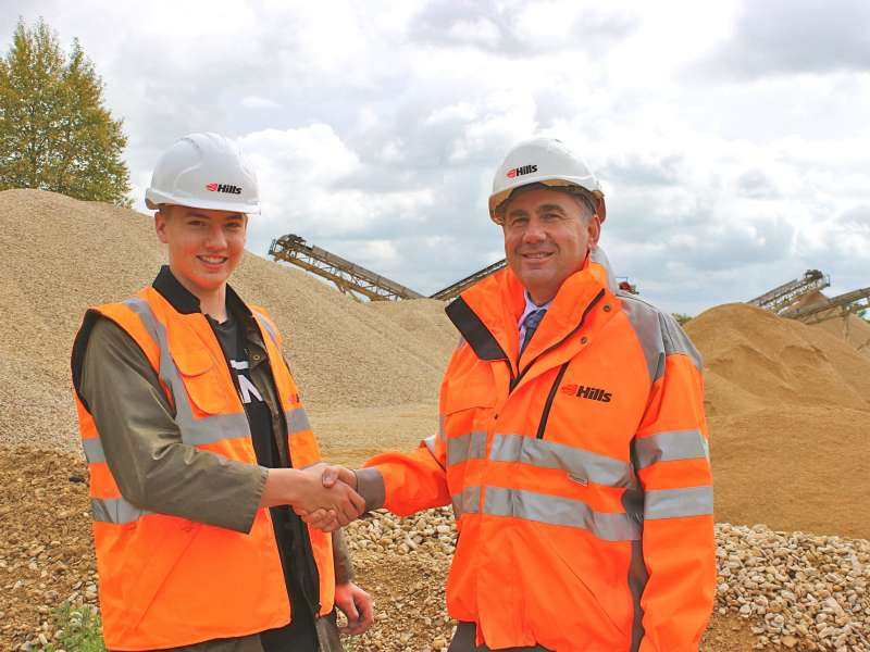 Apprentice Aidan Jeffreys and operations manager Peter Steffens