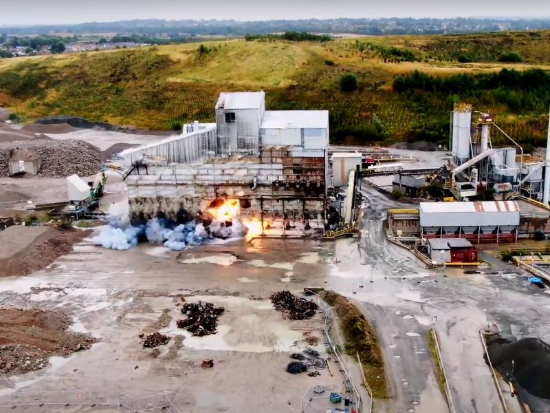 AR Demolition use innovative explosives technology at Croft Quarry
