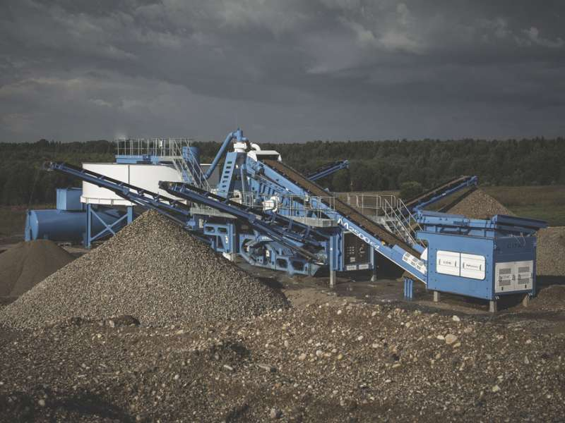 CDE M2500 washing plant and AquaCycle combination