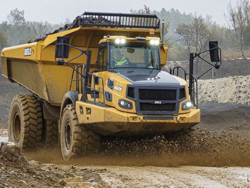 Bell B60E articulated dumptruck