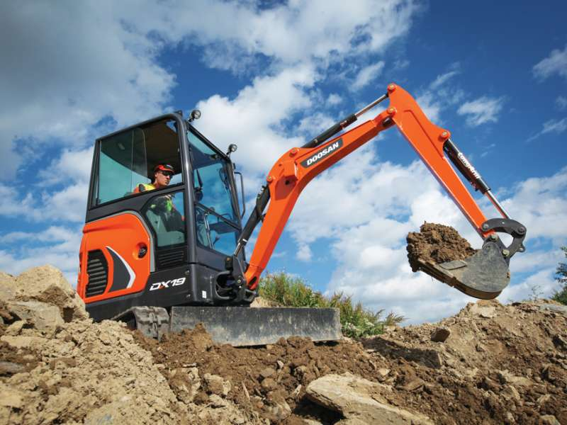 Doosan DX19 mini-excavator