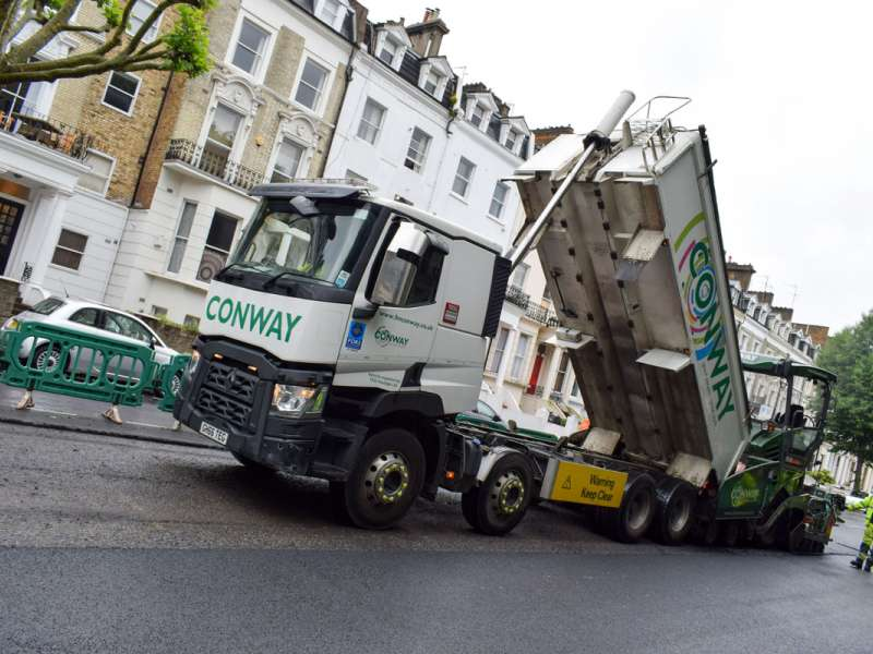 Westminster City Council's 80 per cent recycled asphalt trial