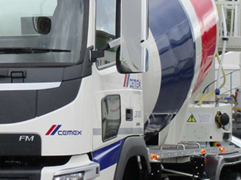 One of CEMEX's new high-performance truckmixers
