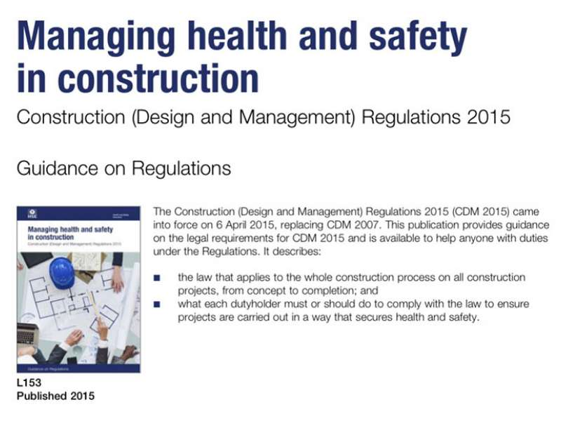 CDM Regulations 2015