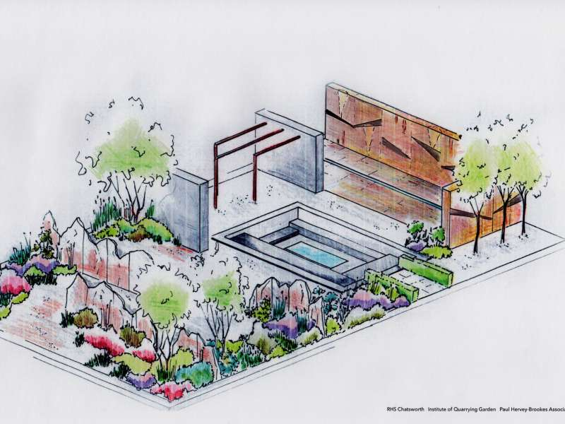 IQ Quarry Garden design with revised wall