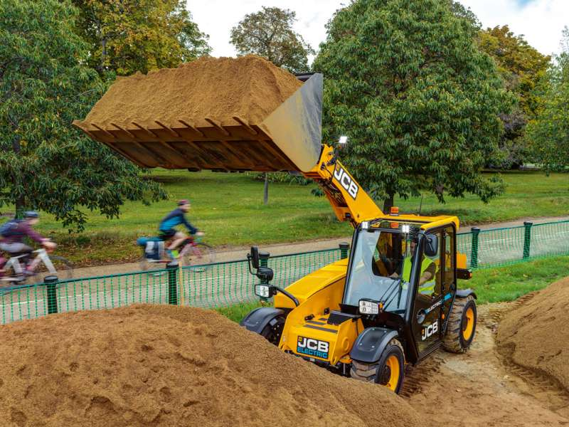 JCB E-Tech electric Loadall telehandler