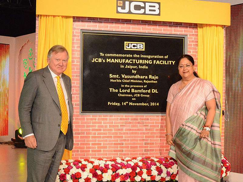 JCB's factory in Jaipur
