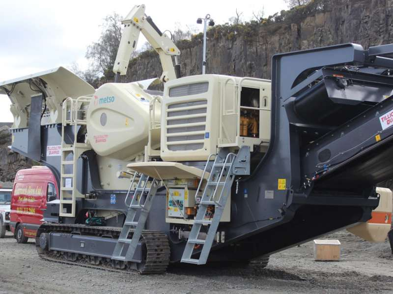 Metso Lokotrack LT120 mobile jaw crusher