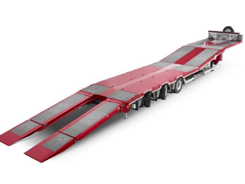 Nooteboom three-axle semi low-loader trailer