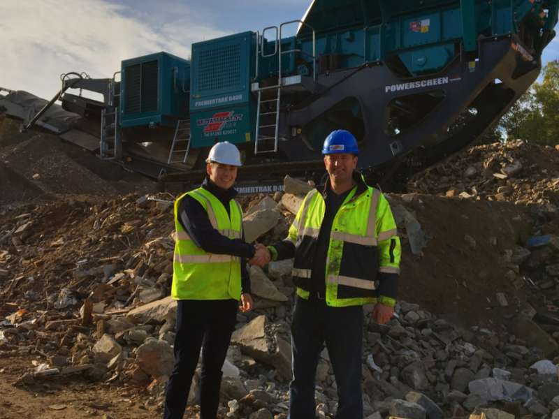 New Powerscreen crusher for Britaniacrest Recycling