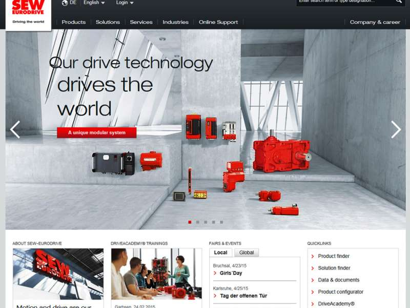 SEW-Eurodrive website