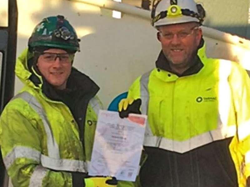 Richard Denman Jr receives NVQ diploma