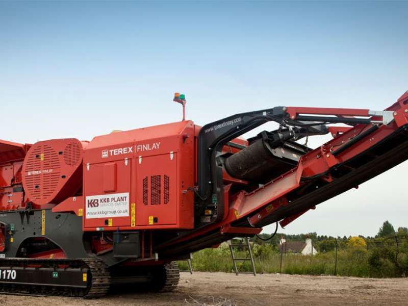 Terex Finlay J-1170 mobile jaw crusher