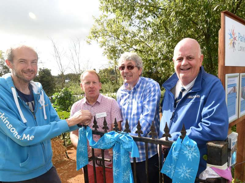 Official opening of the community garden