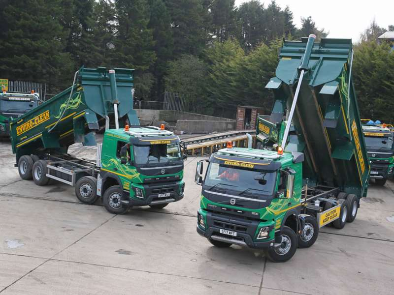 Volvo FMX trucks fitted with Multimaster bodies