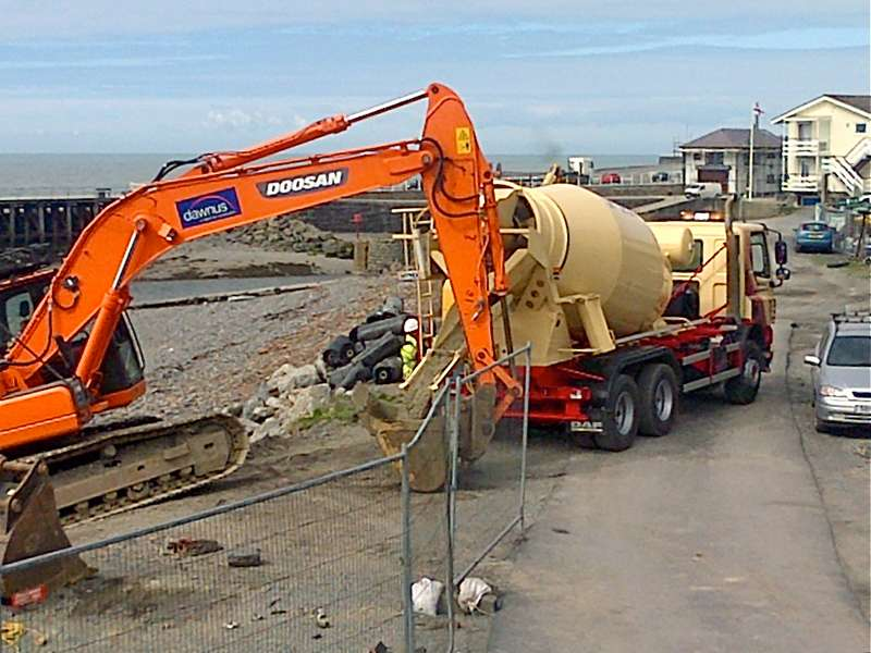 Tudor Griffiths supply concrete for storm repairs