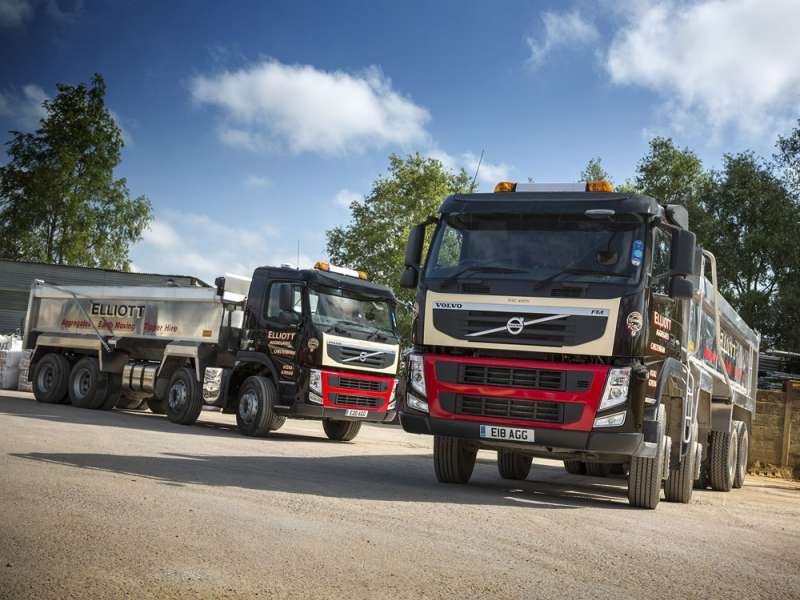 Volvo eight-wheel tipper trucks