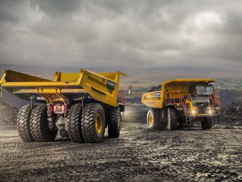 Volvo R60D rigid dumptrucks