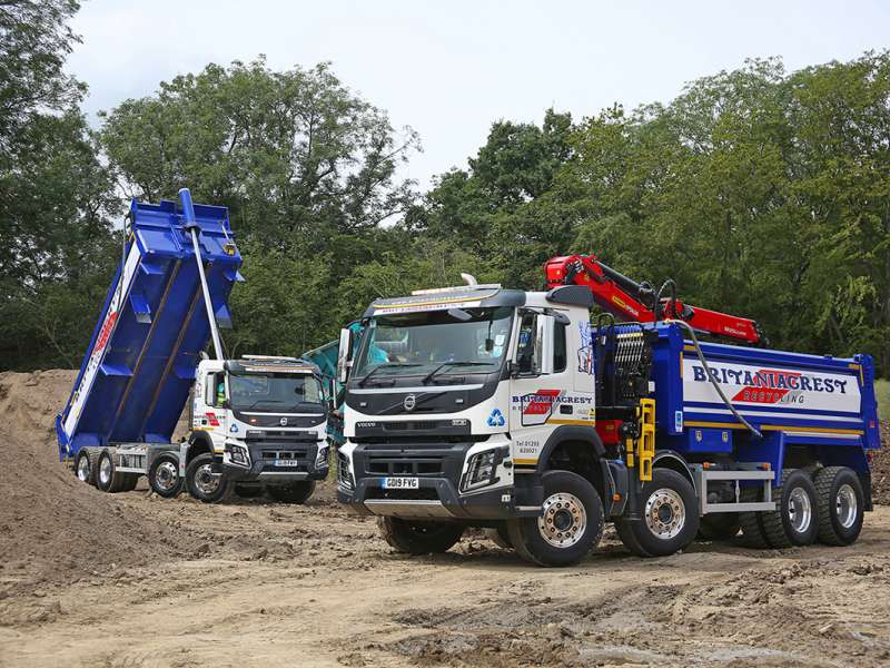 Volvo trucks for Britaniacrest Recycling