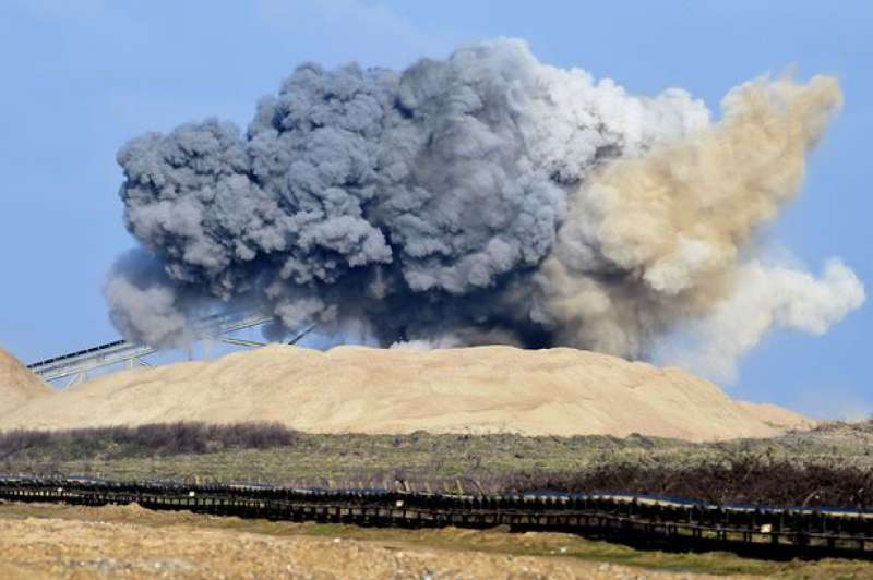 Blast at Cliffe Quarry