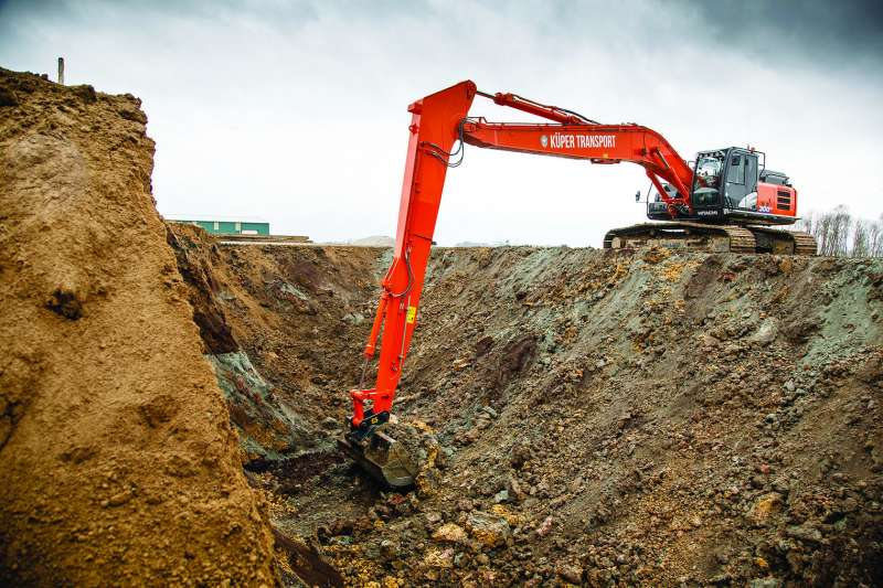 Hitachi ZX300LC-6 super long reach excavator