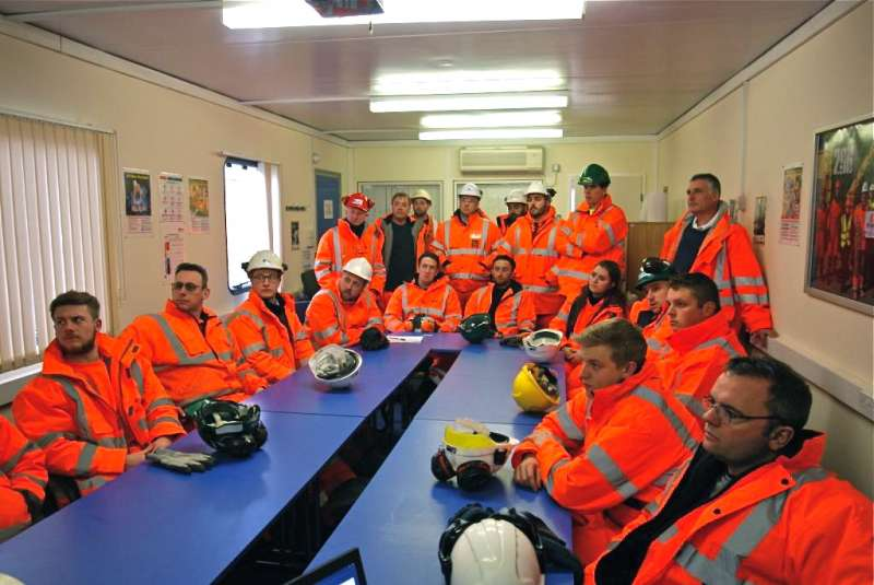 University of Derby students at Shotton surface mine