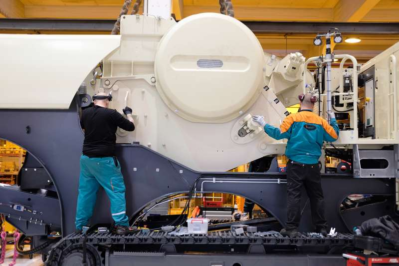 Metso assembly line