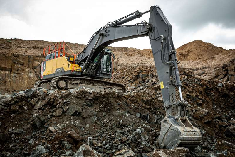 Volvo EC480E long-reach excavator