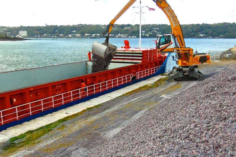 Welsh Slate decorative aggregate shipment