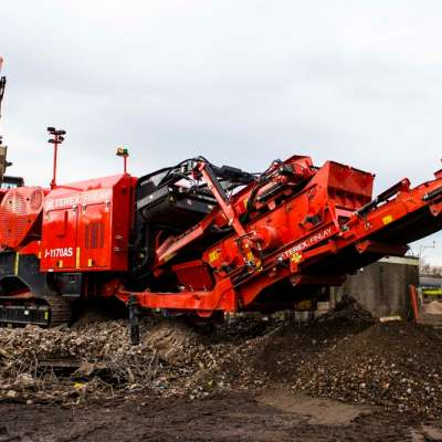 Terex Finlay J-1170AS mobile jaw crusher