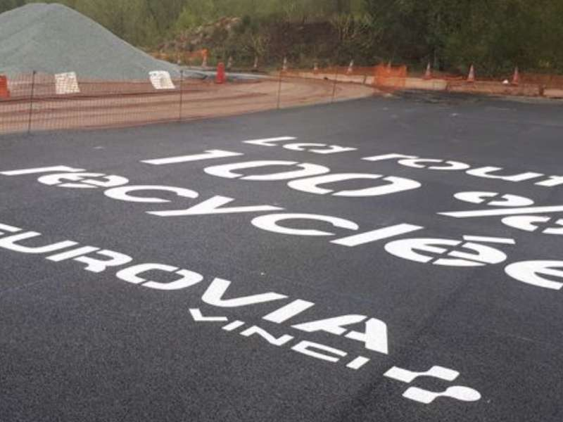 100% recycled road