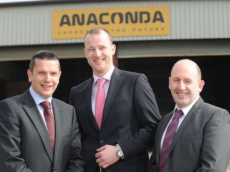 Left to right: Con Gallagher, Alistair Forsyth and Martin Quinn