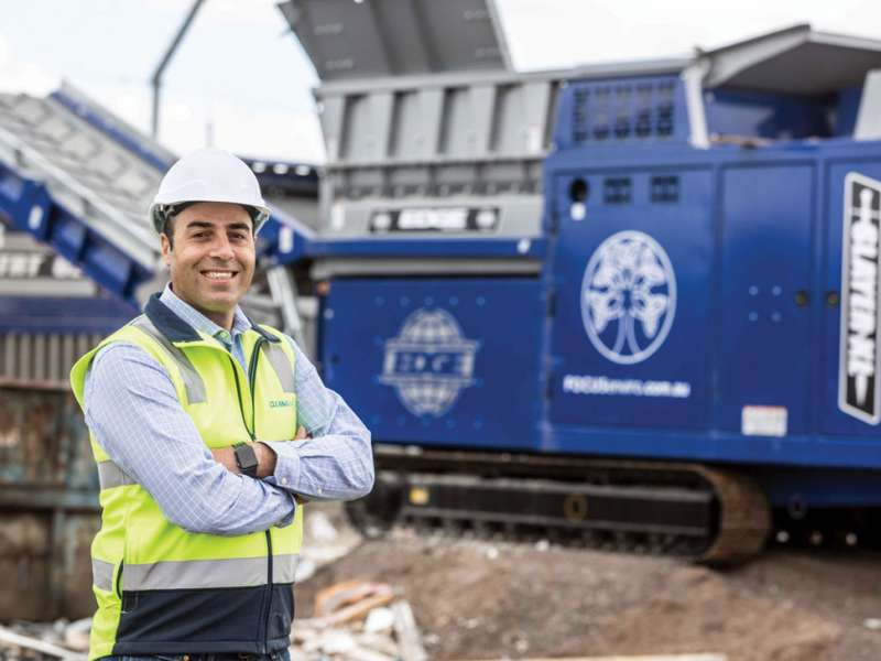 EDGE Innovate mobile recycling plant