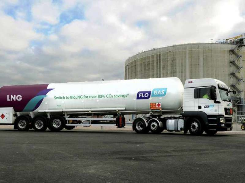 Flogas Bio-LNG delivery truck