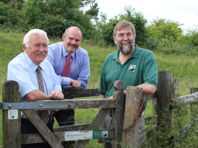 Hills Group make donation to Wiltshire Wildlife Trust