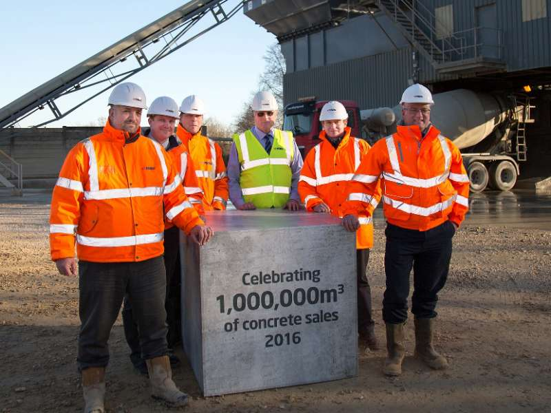 Millionth cubic metre of ready-mixed concrete