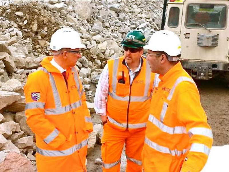 Andrew Bingham MP visits Hope cement works