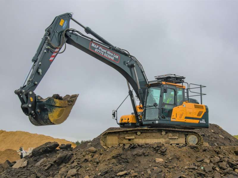 M&P Plant Hire's Hyundai HX220AL at work
