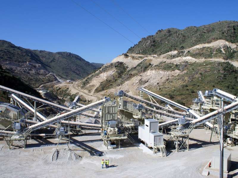 Metso stationary aggregate processing plant