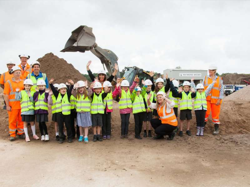 School visit to recycling facility