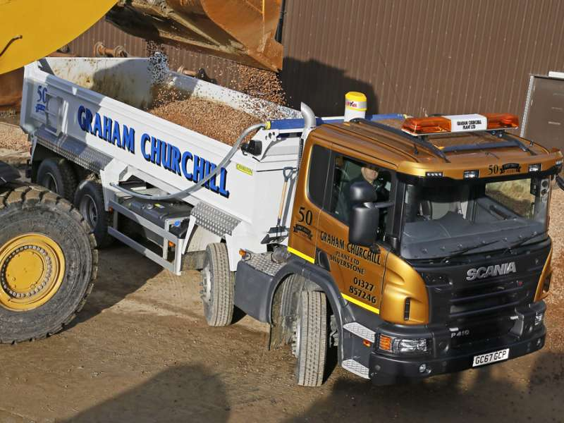 Scania tipper with Charlton Superlite body