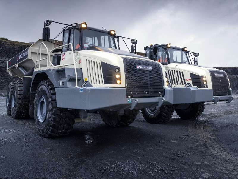 Terex TA300 and TA400 articulated haulers