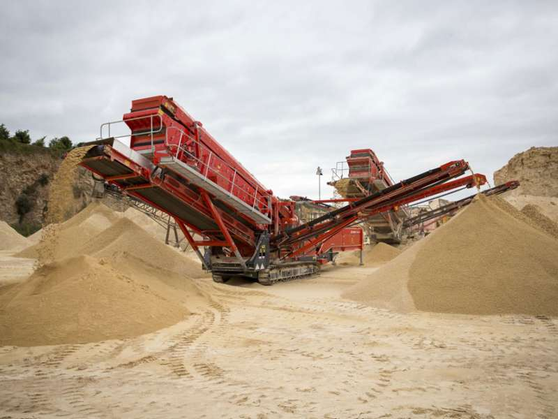 Terex Finlay machines at Barnsdale Bar Quarry