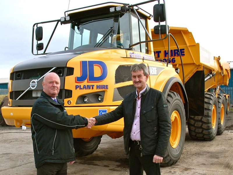 JD Plant Hire take delivery of a Volvo A30F dumptruck