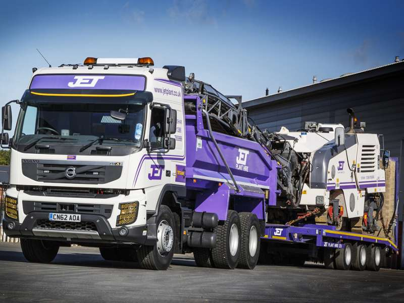 One of the Volvo FMX trucks acquired by Jet Plant Hire