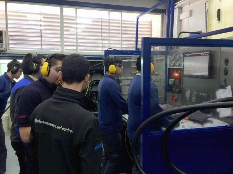 Webtec's test rig in use at Talleres Lucas