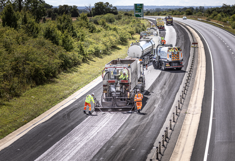Micro-surfacing work in Bedfordshire