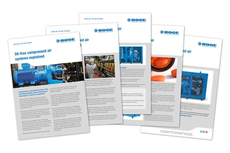 Oil-free compressed air white paper