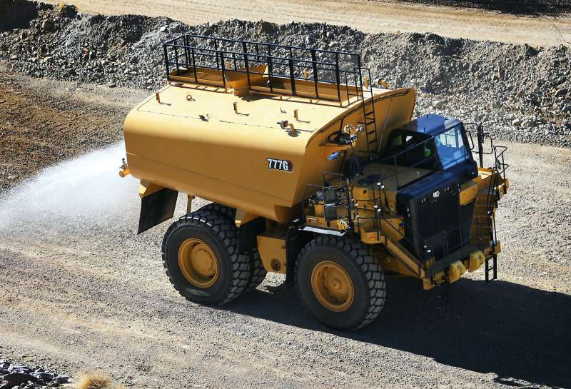 Cat 777G Water Solutions truck